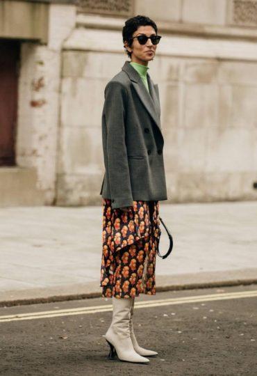 Λονδίνο με printed φούστα