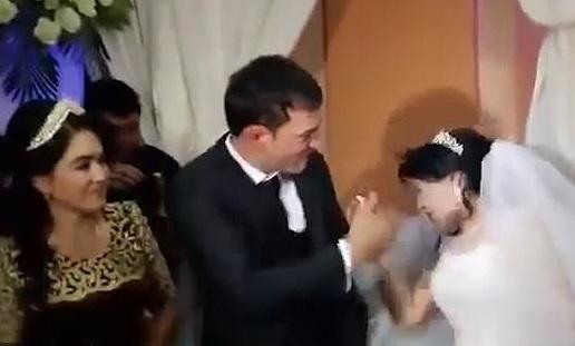 Το βίντεο που εξοργίζει κάθε γυναίκα! Γαμπρός χαστουκίζει τη νύφη, επειδή αστειεύτηκε με την τούρτα του γάμου! | tlife.gr