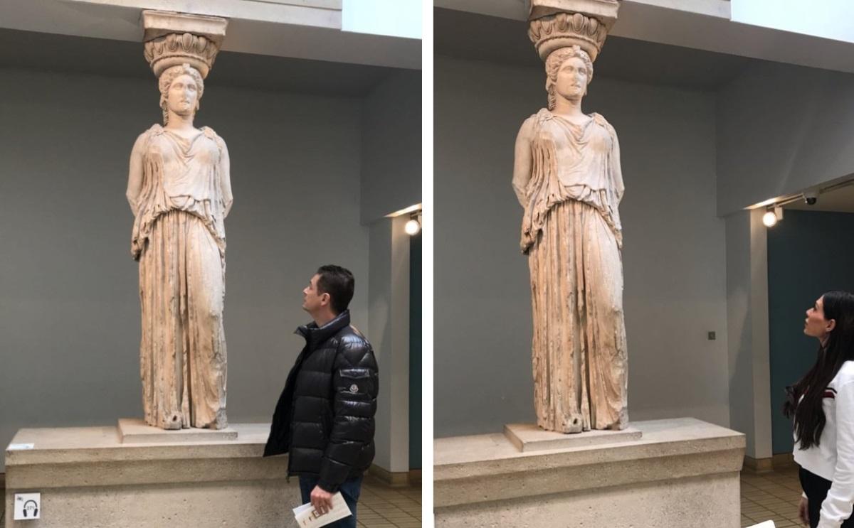Αντώνης Σρόιτερ – Ιωάννα Μπούκη: Η επίσκεψή τους στο Βρετανικό Μουσείο στο Λονδίνο για να θαυμάσουν τα ελληνικά μάρμαρα – Video | tlife.gr