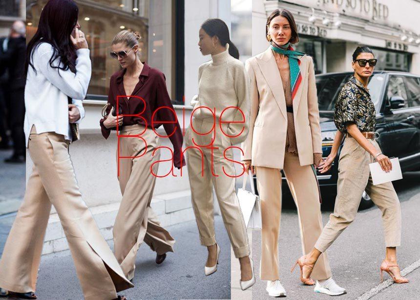 Mπεζ παντελόνι η μεγαλύτερη τάση της άνοιξης και 7 τρόποι να το συνδυάσεις. | tlife.gr
