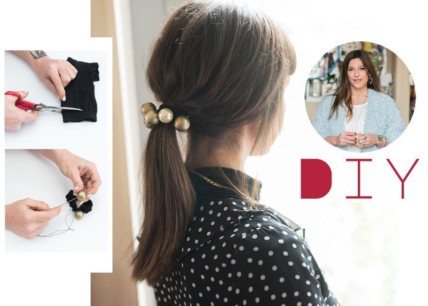 Η Πόπη Αναστούλη σου δείχνει βήμα – βήμα πως να φτιάξεις ένα hair accessory με πέρλες   tlife.gr