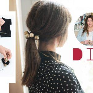 Η Πόπη Αναστούλη σου δείχνει βήμα – βήμα πως να φτιάξεις ένα hair accessory με πέρλες