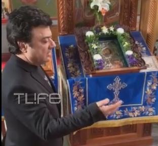 """Απίστευτο βίντεο! Ο Βασίλης Τερλέγκας ψέλνει το """"Υπερμάχω"""" με κλαρίνο σε εκκλησία!"""
