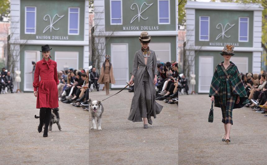 782eba0eb9e9 Ο Vassilis Zoulias παρουσίασε για πρώτη φορά την pret-a-porter συλλογή  Maison Zoulias A/W 2019-20 «Verouska», που πήρε το όνομα της αγαπημένης του  σκυλίτσας ...