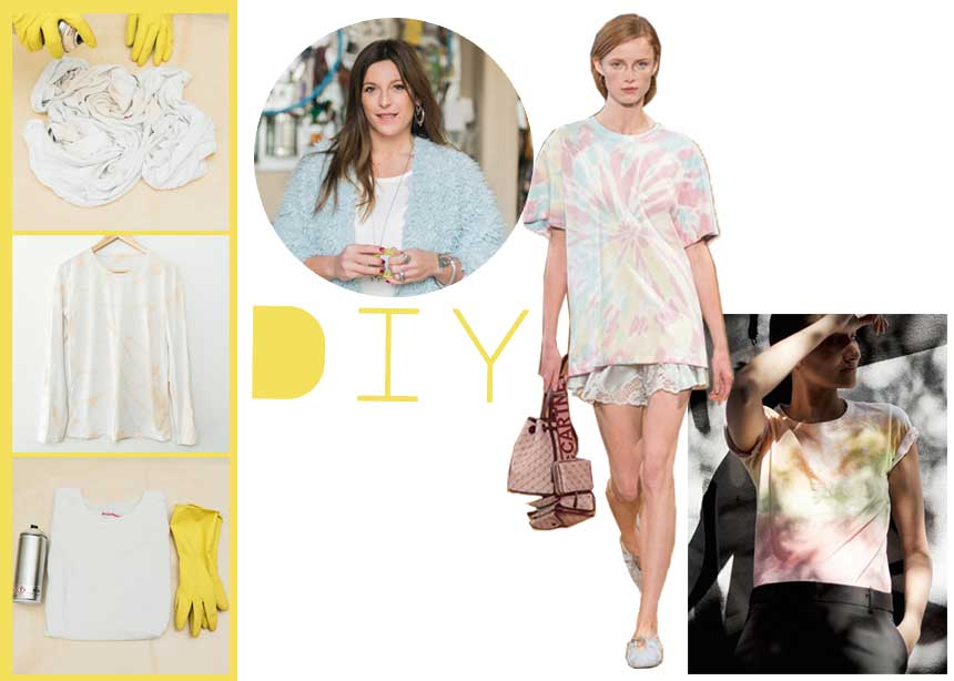 DIY: Βήμα – βήμα πως να φτιάξεις μόνη σου ένα tie dye t-shirt