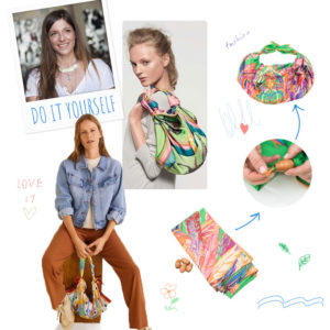 DIY: Βήμα – βήμα πως να φτιάξεις μόνη σου μία τσάντα από ένα παλιό μαντήλι