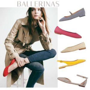 Aνοιξιάτικα flat παπούτσια: Mπαλαρίνες