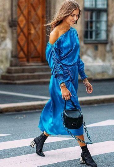 Στοκχόλμη με satin φόρεμα