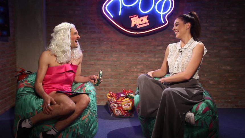 Η Ιωάννα Τριανταφυλλίδου δίνει συνέντευξη στον Δημήτρη Μοθωναίο (με ξανθιά περούκα)! video