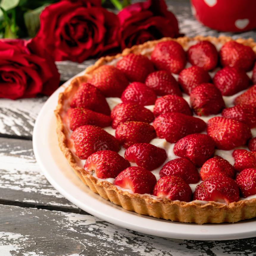 Τάρτα με φράουλες και τυρί μασκαρπόνε