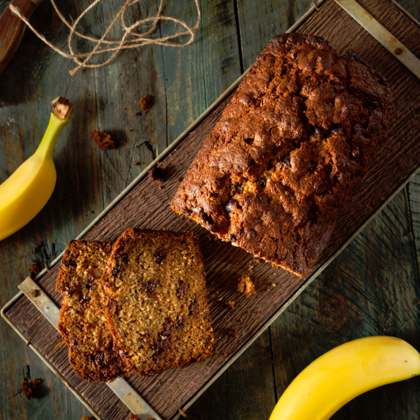 """Συνταγή για """"ψωμί"""" μπανάνας"""
