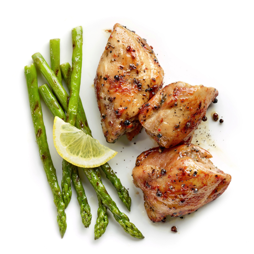 Κοτόπουλο με σπαράγγια στον φούρνο