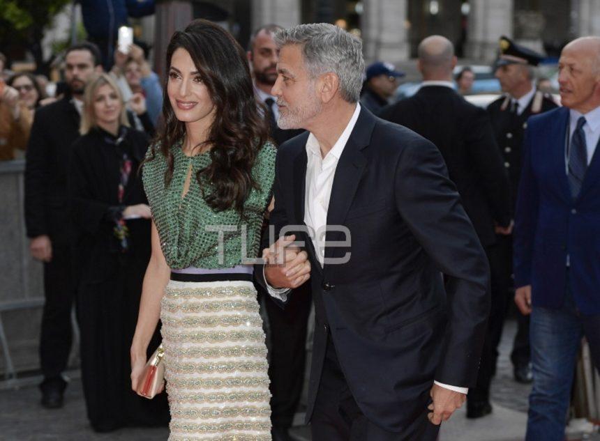 George Clooney – Amal Alamuddin: Πιασμένοι αγκαζέ στην Ρώμη για την επίσημη πρεμιέρα του χολιγουντιανού σταρ! Φωτογραφίες | tlife.gr
