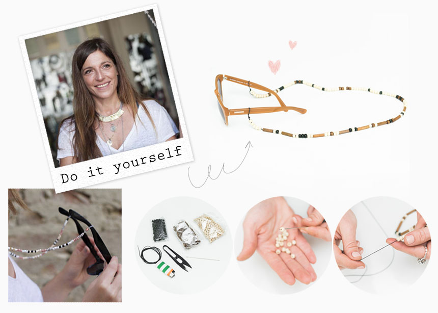 Φτιάξε μόνη σου ένα κορδόνι με χάντρες για τα γυαλιά σου!