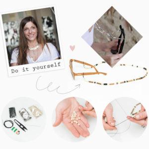 DIY: Βήμα – βήμα πως να φτιάξεις μόνη σου ένα κορδόνι με χάντρες για τα γυαλιά σου