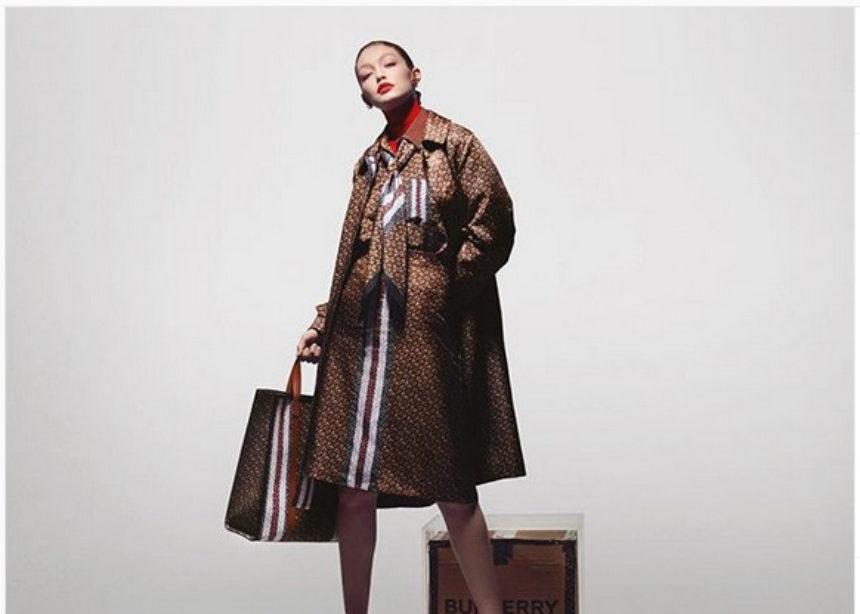 H Gigi Hadid πρωταγωνιστεί στην νέα monogram campaign του οίκου Burberry | tlife.gr