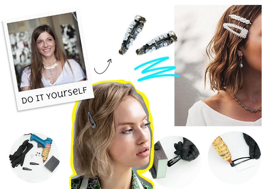 DIY: H Πόπη Αναστούλη σου δείχνει βήμα βήμα πως θα φτιάξεις μόνη σου ένα stylish hair clip. | tlife.gr