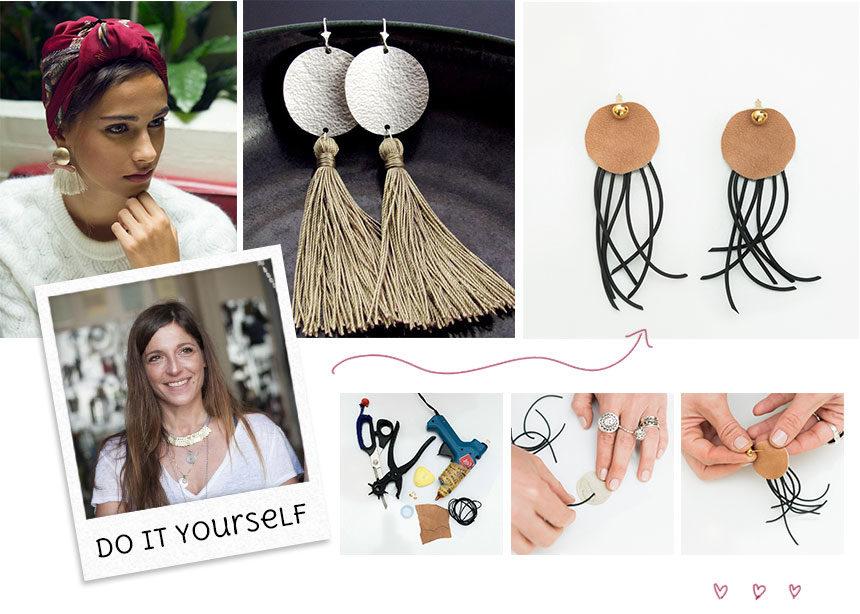 DIY: H Πόπη Αναστούλη σου δείχνει βήμα βήμα πως θα φτιάξεις μόνη σου ένα ζευγάρι boho σκουλαρίκια | tlife.gr
