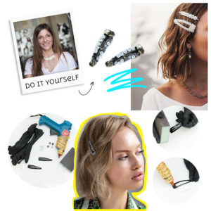 DIY: H Πόπη Αναστούλη σου δείχνει βήμα βήμα πως θα φτιάξεις μόνη σου ένα στιλάτο hair clip