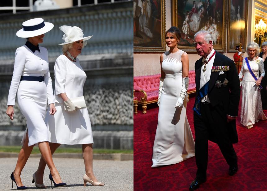 Τι φόρεσε η Melania Τrump στο Λονδίνο!