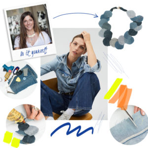 DIΥ: H Πόπη Αναστούλη σου δείχνει πως θα φτιάξεις ένα κολιέ από το jean σου!