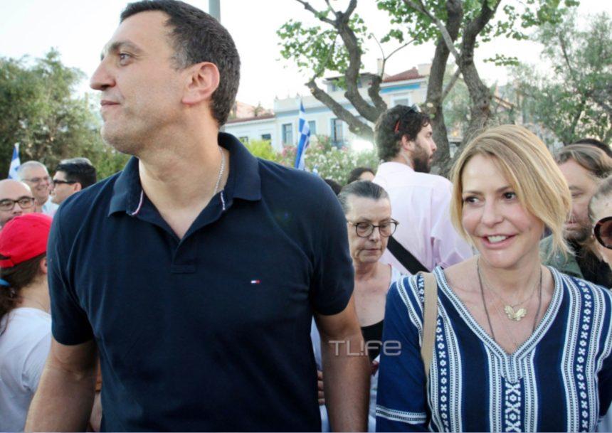 Τζένη Μπαλατσινού – Βασίλης Κικίλιας: Μαζί στην τελευταία προεκλογική ομιλία του Κυριάκου Μητσοτάκη στο Θησείο! [pics] | tlife.gr