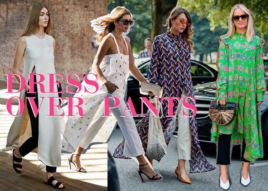 Φόρεμα πάνω από παντελόνι! Αυτή είναι η νέα απόλυτη τάση και εσύ θα την φορέσεις πρώτη! | tlife.gr