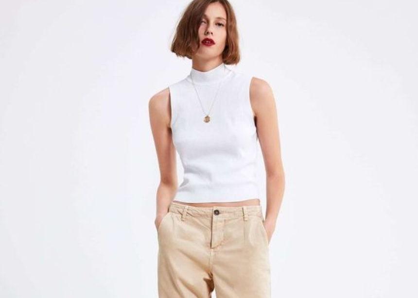 Πως να βάλω το casual beige παντελόνι στο γραφείο; | tlife.gr