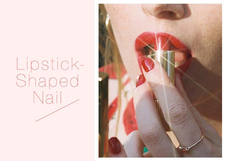Lipstick shaped nails: όλες στο instagram δίνουν αυτό το σχήμα στα νύχια τους ΤΩΡΑ! | tlife.gr