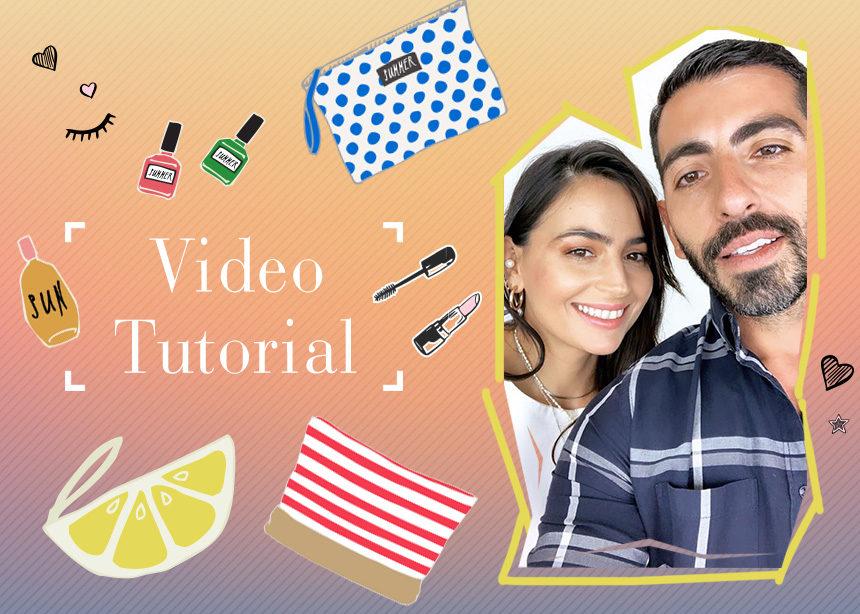 Video tutorial! Πήγα με το νεσεσέρ μου στον Δημήτρη Σταματίου και μου έδειξε το πιο sexy μακιγιάζ διακοπών!   tlife.gr