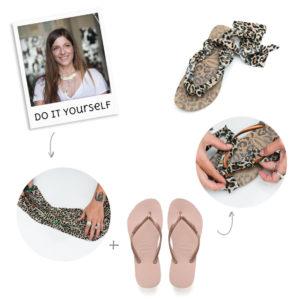 DIY: H Πόπη Αναστούλη σου δείχνει πως θα μετατρέψεις τις σαγιονάρες σου σε leopard σανδάλια!