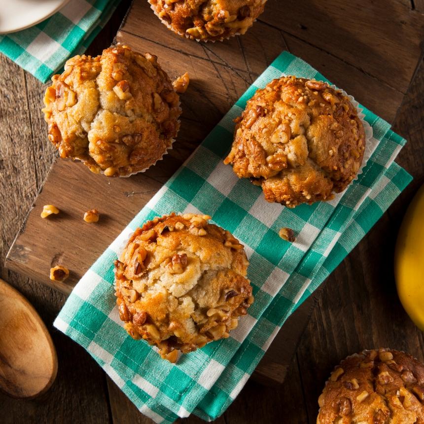 Λαχταριστά muffins με μπανάνα & κανέλα