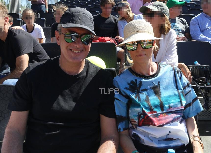Νίκος Χατζηνικολάου – Κρίστη Τσολακάκη: Χαλαροί σε αγώνα τένις! Φωτογραφίες