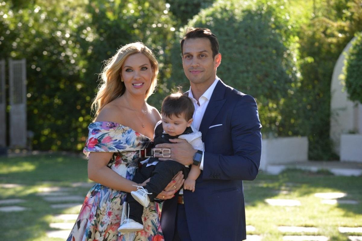 Χριστίνα Αλούπη – Κωνσταντίνος Κέφαλος: Το φωτογραφικό άλμπουμ της βάφτισης του γιου τους!