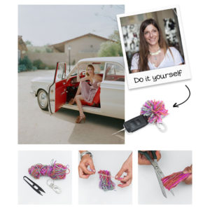 DIY: Η Πόπη Αναστούλη σου δείχνει πως θα φτιάξεις ένα stylish μπρελόκ για το κλειδί του αυτοκινήτου σου