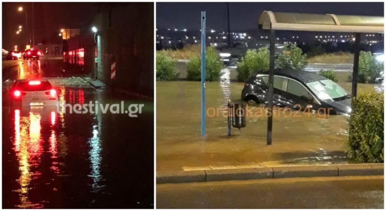 Καιρός: Εγκλωβίστηκαν οδηγοί στον πλημμυρισμένο Περιφερειακό στην Θεσσαλονίκη! | tlife.gr