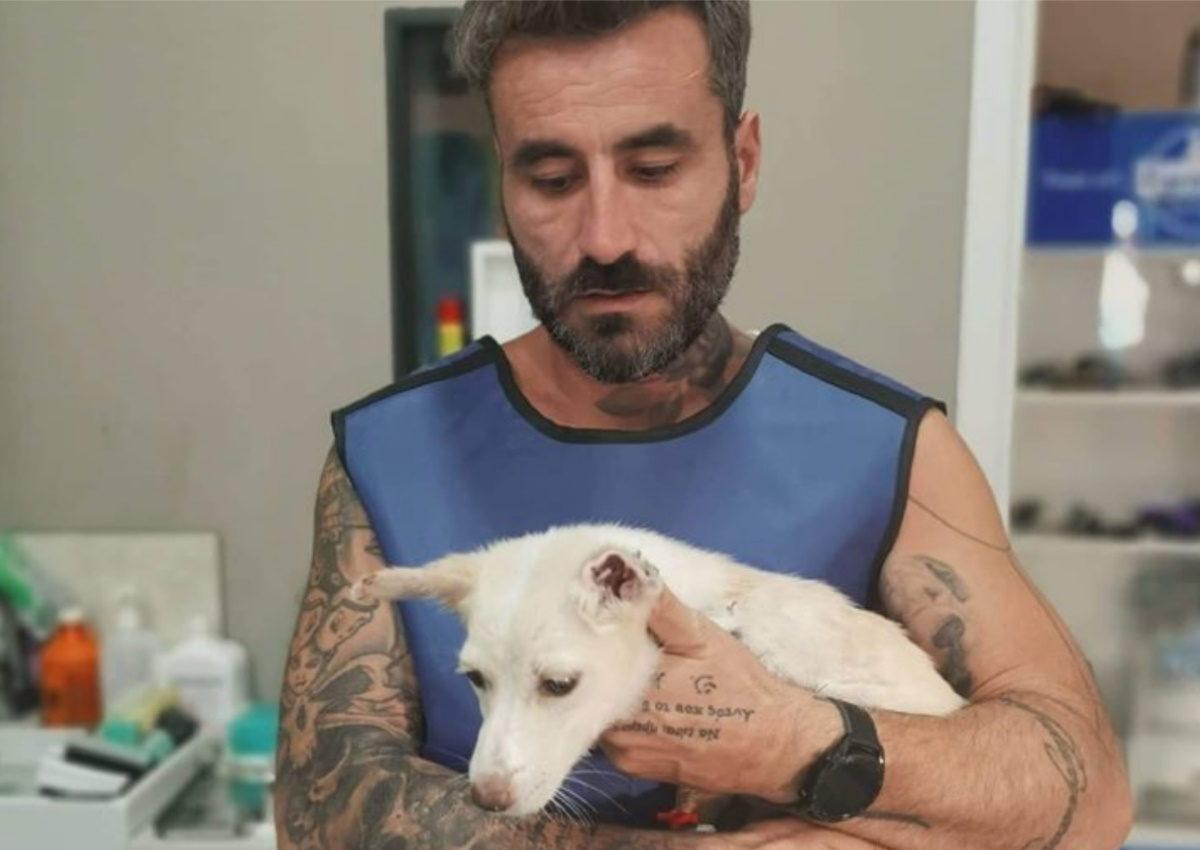 Γιώργος Μαυρίδης: Υιοθέτησε τη σκυλίτσα που ακρωτηρίασαν στη Ξάνθη και δίνει μάχη για τη ζωή της [pics]   tlife.gr