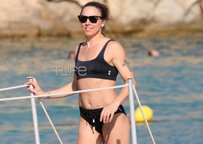 """Melanie C: Η τραγουδίστρια των Spice Girls ανάβει """"φωτιές"""" στην Μύκονο με το θανατηφόρο της κορμί! [pics]"""