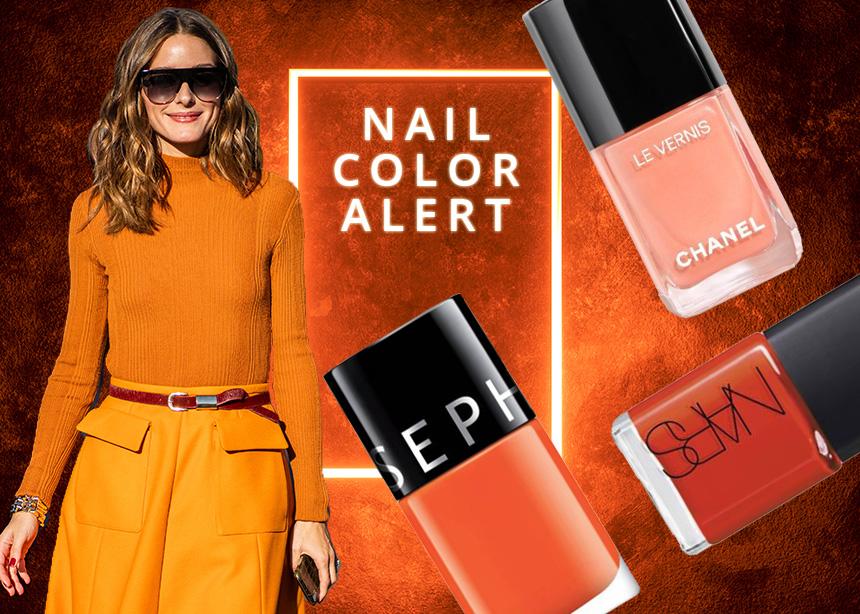 Και όμως! Το πορτοκαλί είναι το χρώμα που πρέπει να βάψεις τα νύχια σου το φθινόπωρο!