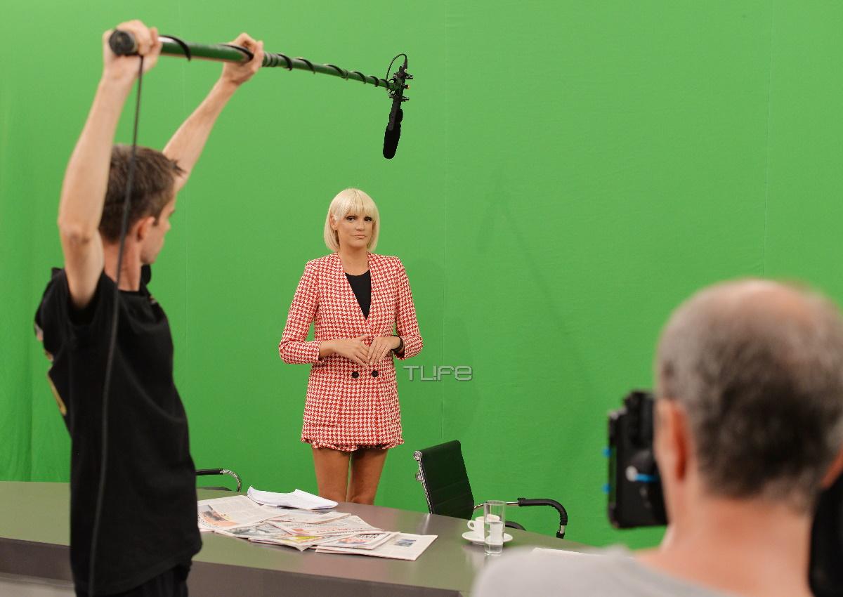 Σάσα Σταμάτη: Το TLIFE στα γυρίσματά της για το νέο σίριαλ του ΑΝΤ1, «Αν ήμουν πλούσιος» –  Φωτογραφίες