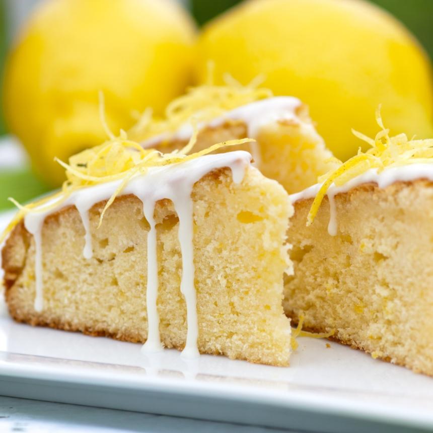 Cake λεμονιού με γιαούρτι