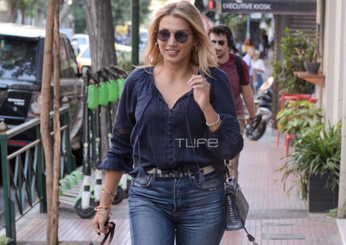 Κωνσταντίνα Σπυροπούλου: Βόλτα για αγορές στο Κολωνάκι με casual look! [pics]