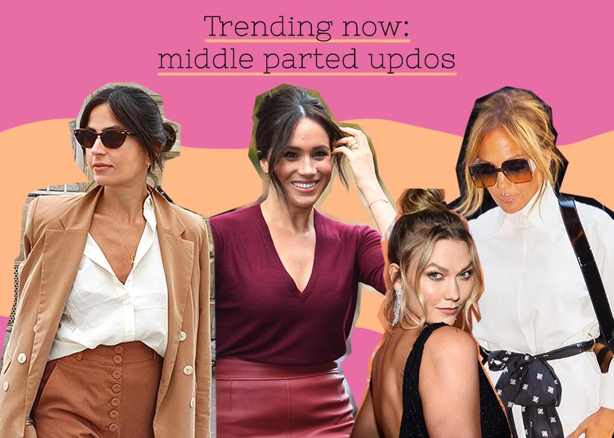 Middle parted updos: ξεκίνησα να κάνω το πιο hot χτένισμα της σεζόν και όλοι μου λένε για τα μαλλιά μου!
