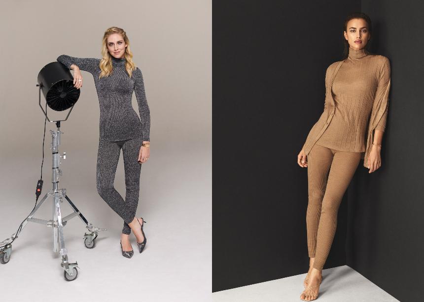 Η  Irina Shayk και η Chiara Ferragni στην knitwear collection της Intimissimi | tlife.gr