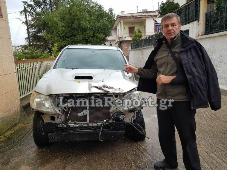 Απόστολος Γκλέτσος: Φωτογραφίες και βίντεο  από το κατεστραμένο αυτοκίνητο μετά το τροχαίο   tlife.gr