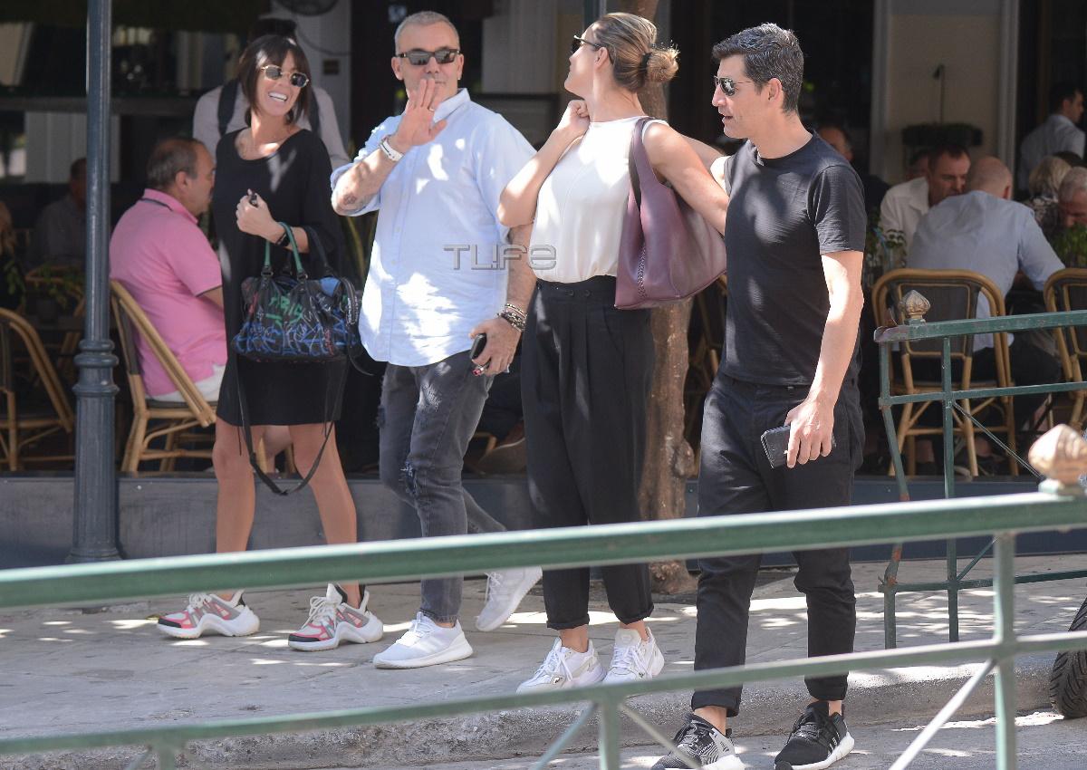 Σάκης Ρουβάς – Κάτια Ζυγούλη: Χαλαρές στιγμές στο Κολωνάκι με τον Στέλιο Ρόκκο και την Λελέ Γκόφα! [pics]