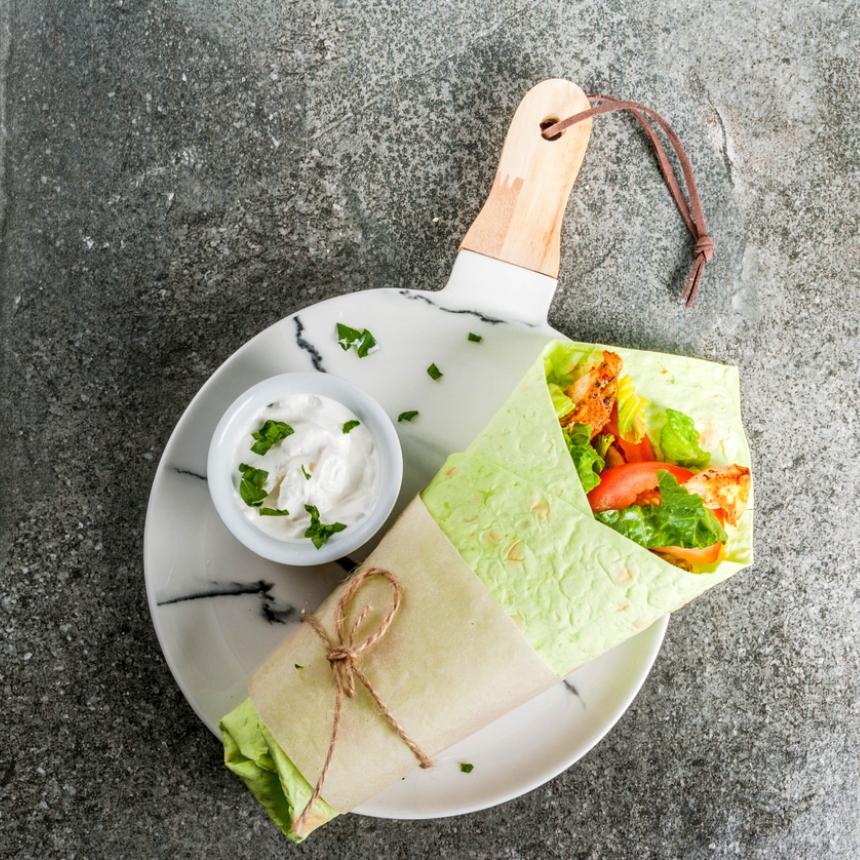 Wraps με σπανάκι και φέτα