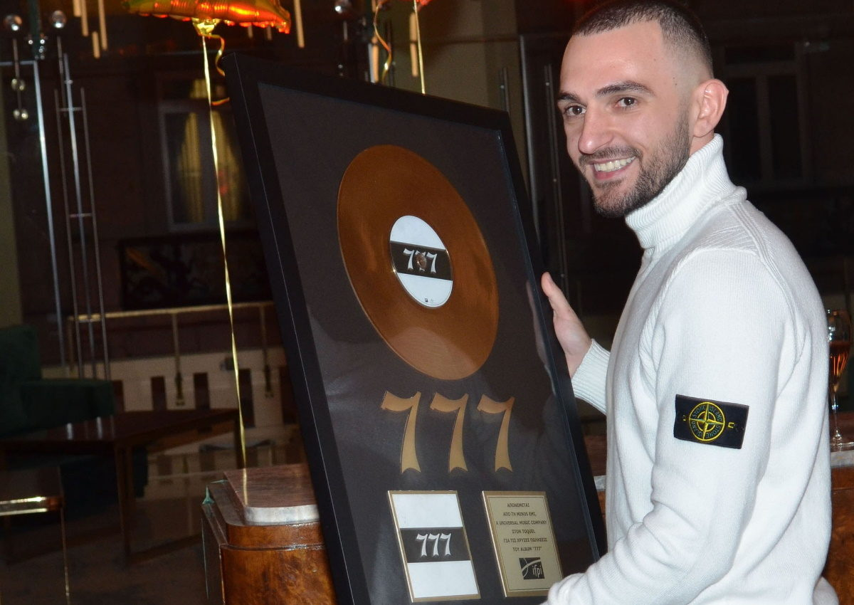 TOQUEL: Όσα έγιναν στην απονομή χρυσού δίσκου του album «777»! [pics] | tlife.gr