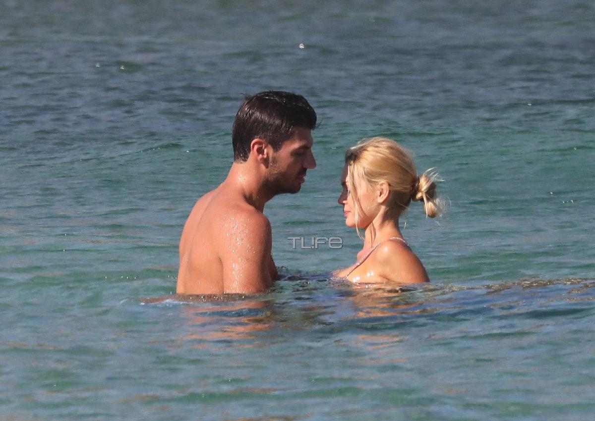 Βίκυ Κάβουρα – Γιώργος Βίγγος: Τρυφερές αγκαλιές και φιλιά σε παραλία της Μυκόνου! [pics] | tlife.gr