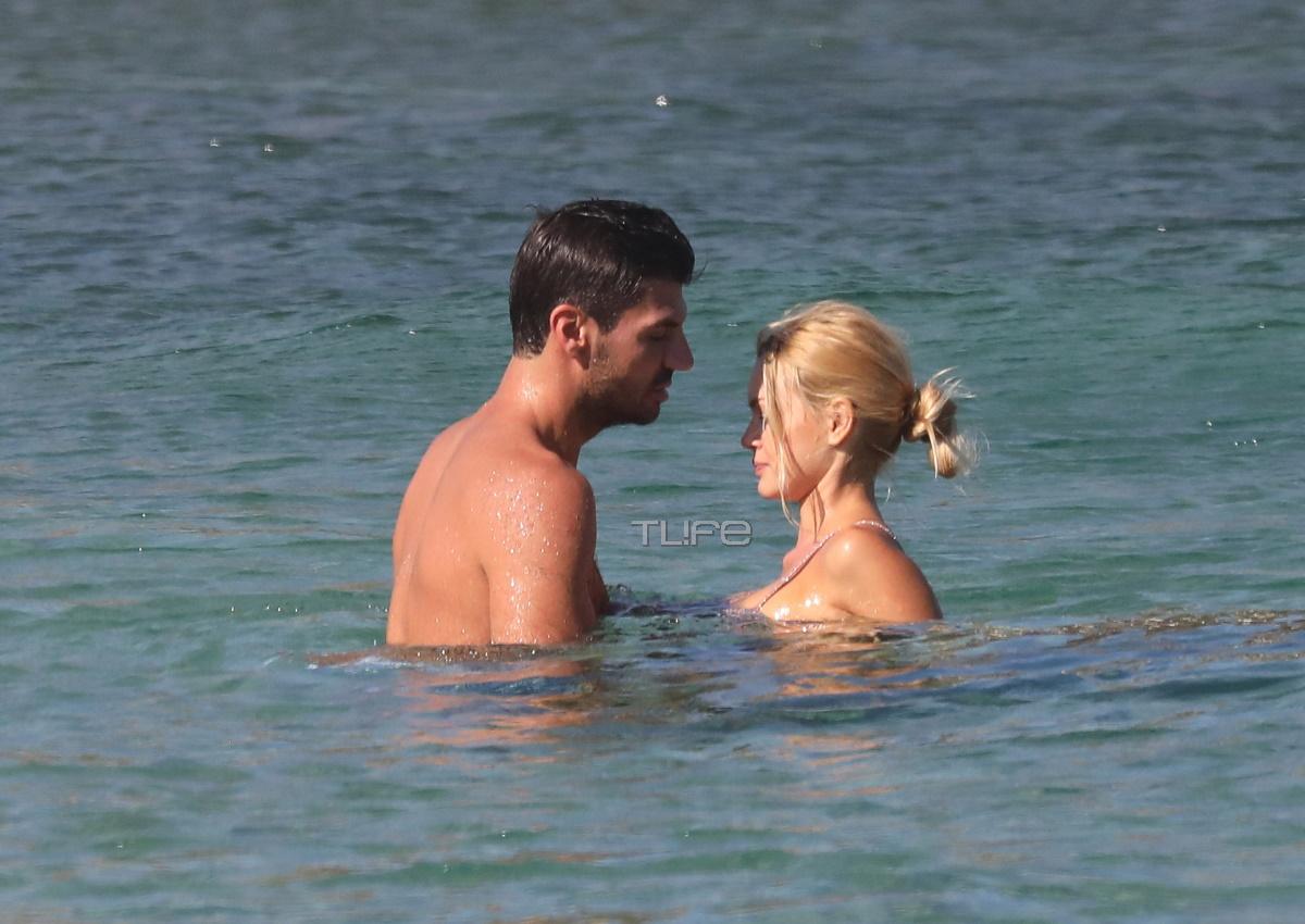 Βίκυ Κάβουρα – Γιώργος Βίγγος: Τρυφερές αγκαλιές και φιλιά σε παραλία της Μυκόνου! [pics]
